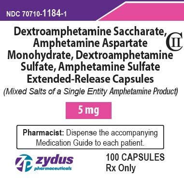 5 mg 100 count Bottle Label