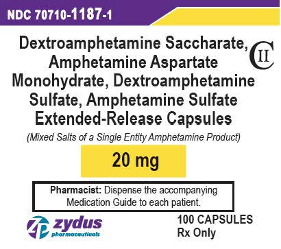 20 mg 100 count Bottle Label