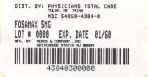 image of 5 mg package label