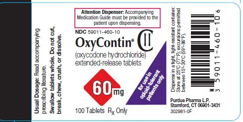 Oxycontin 60 mg label