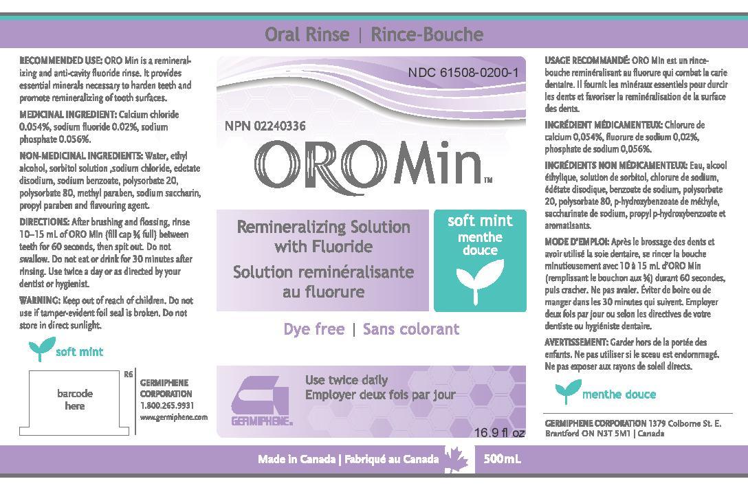 Oromin   Calcium Chloride, Sodium Fluoride, Sodium Phosphate Rinse Breastfeeding