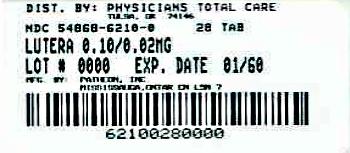 Lutera   Levonorgestrel 5 Mg, Ethinyl Estradiol 5 Mg Breastfeeding