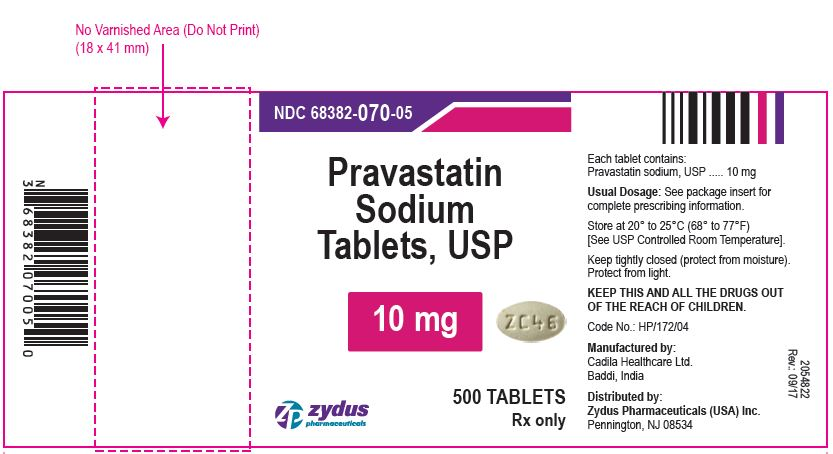 Pravastatin Sodium Tablets USP, 10 mg
