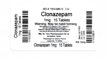 Bottle Label 1 mg