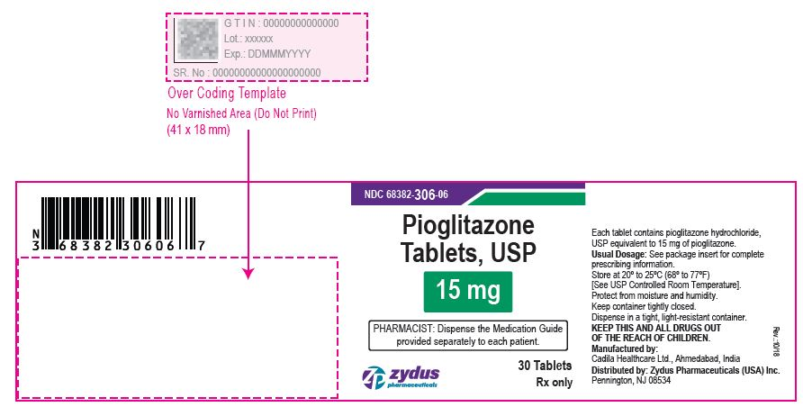 Pioglitazone Tablets USP, 15 mg