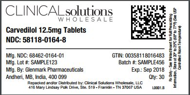 Carvedilol 12.5mg tablet 30 count blister card