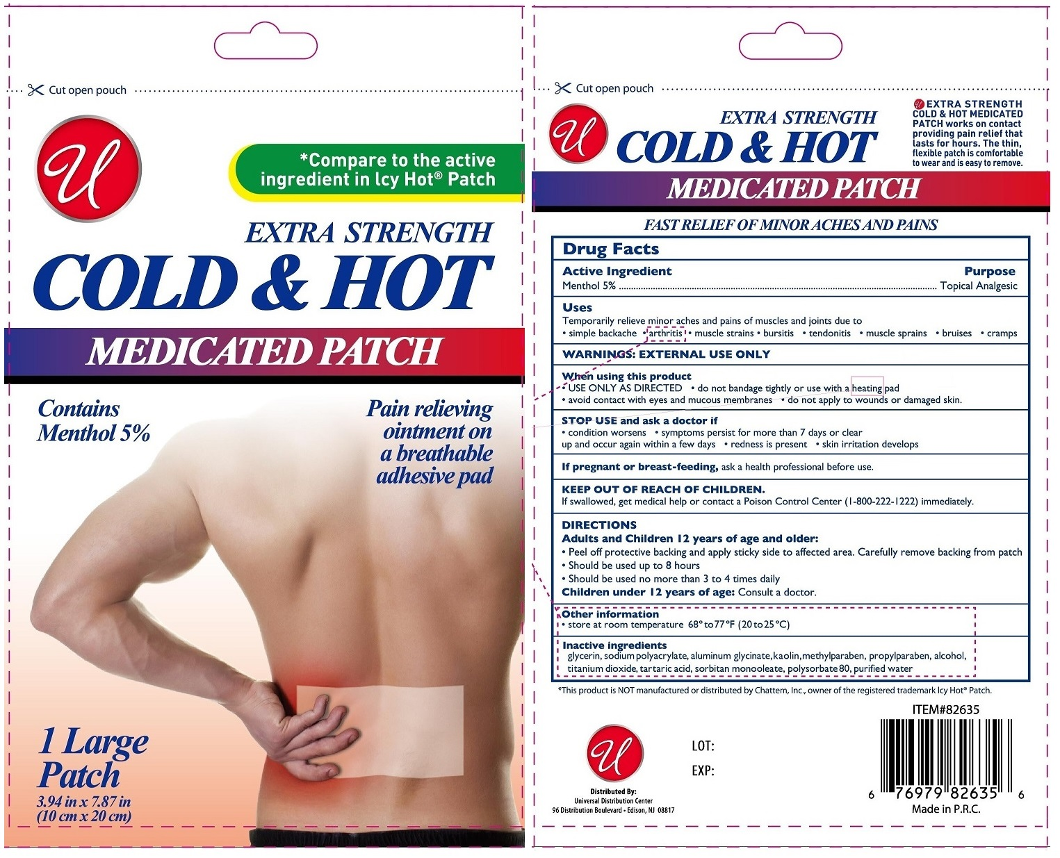 Cold And Hot Medicated Large | Menthol Patch Breastfeeding