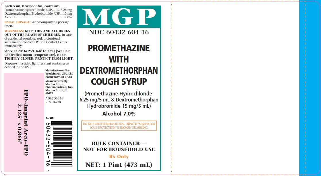Promethazine with DM Cough Syrup Label