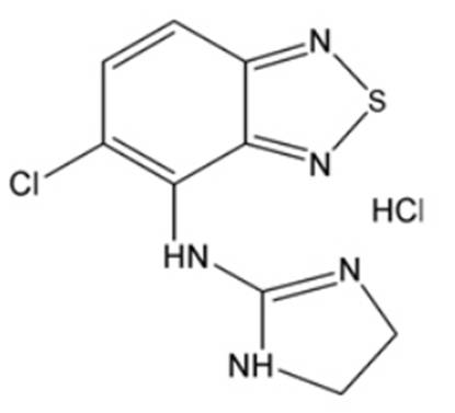 Chemical Structure- Tizanidine HCL