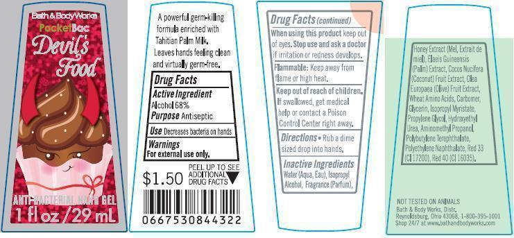 Anti-bacterial Hand Devils Food   Alcohol Gel Breastfeeding