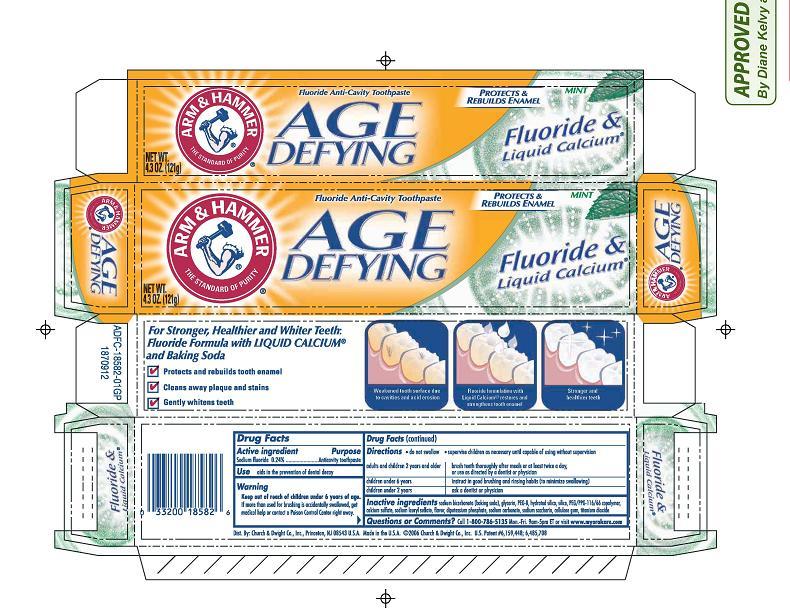 Age Defying Fluoride And Liquid Calcium   Sodium Fluoride Paste, Dentifrice Breastfeeding