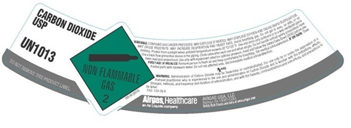 carbon dioxide shoulder label