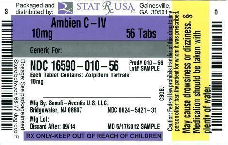 AMBIEN 10 MG LABEL Image