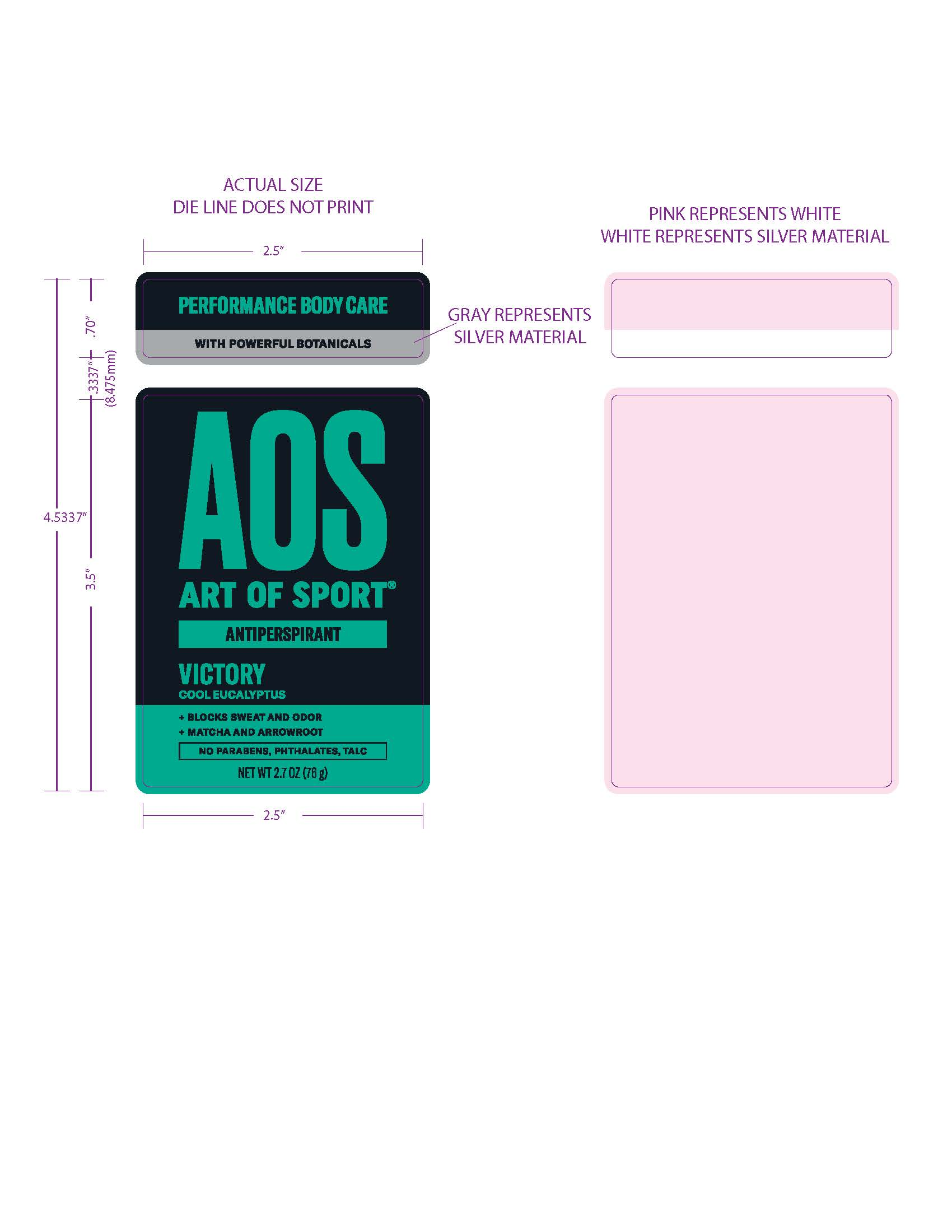 Art of Sport Victory Antiperspirant front panel