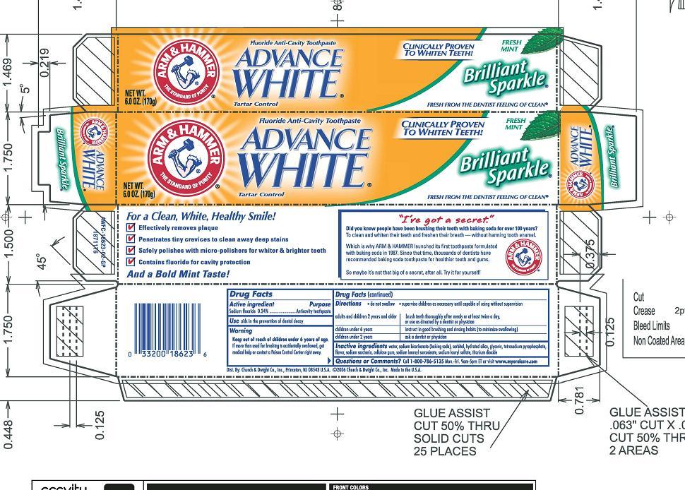 Advance White Tartar Control Brilliant Sparkle | Sodium Fluoride Paste, Dentifrice Breastfeeding
