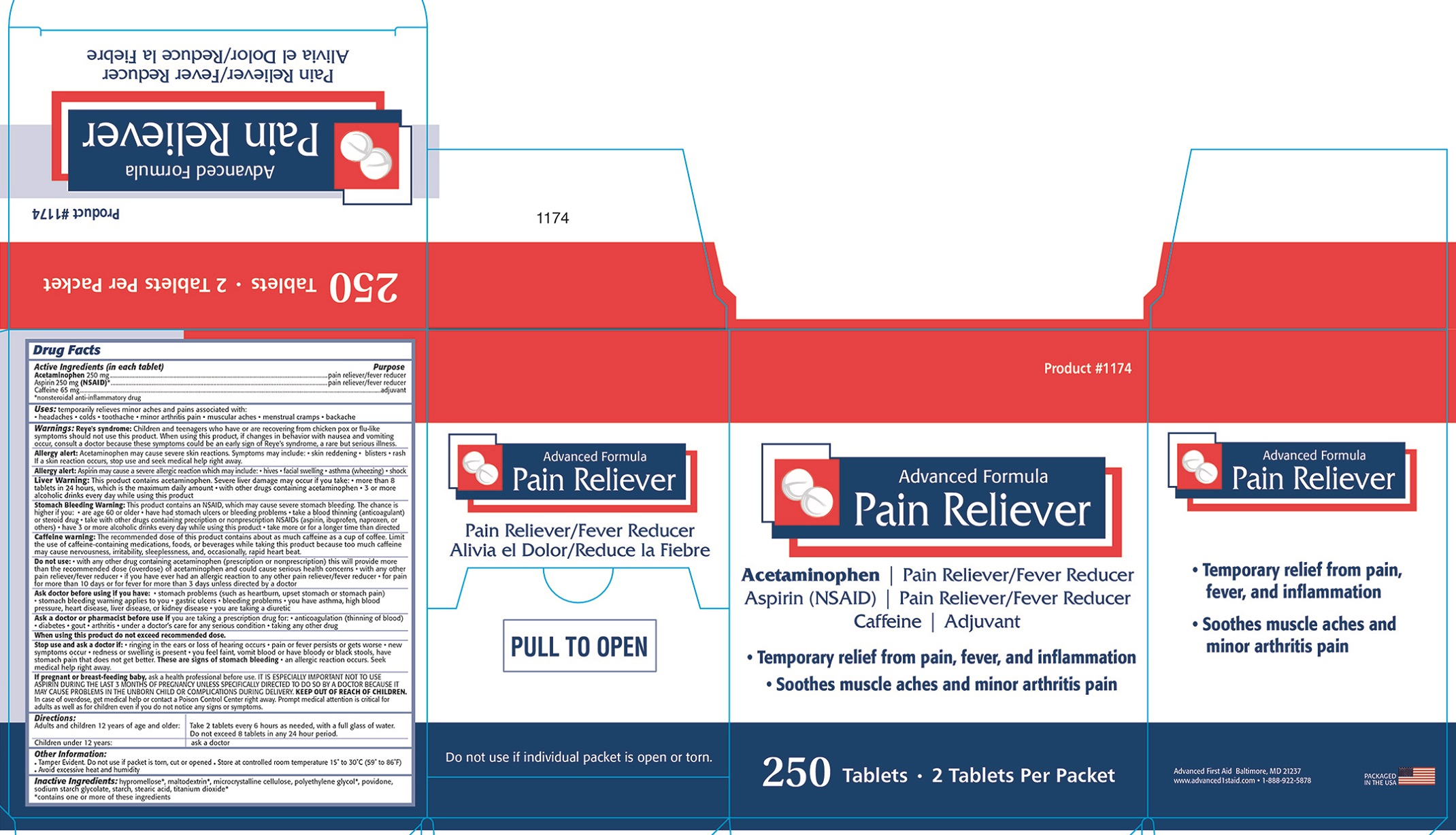 ADVANCED PAIN RELIEVER BOX