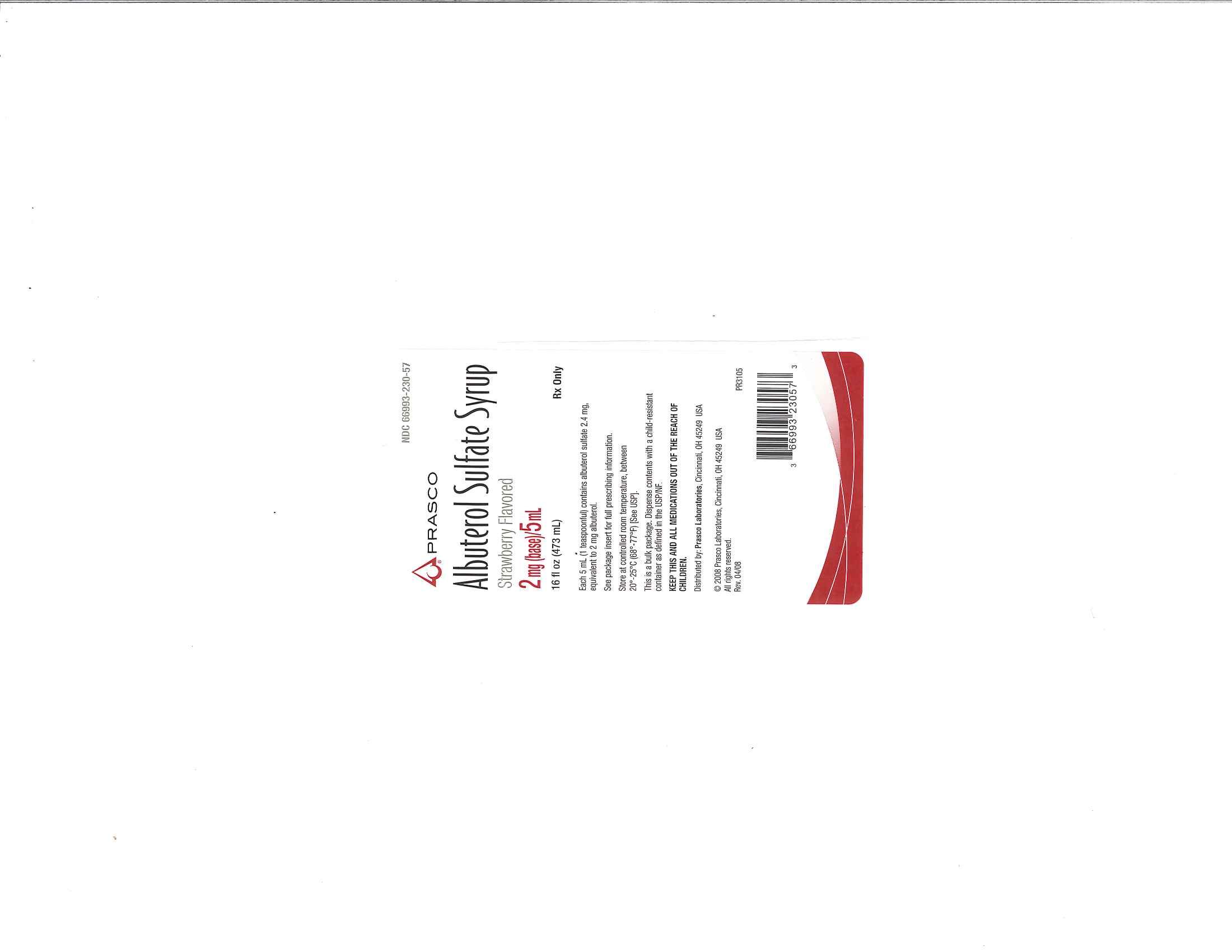Albuterol Sulfate   Prasco Laboratories Breastfeeding