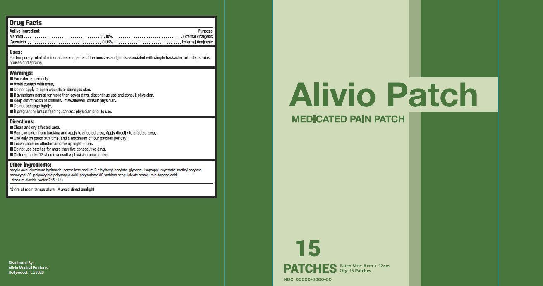 Alivio Medicated Pain | Menthol, Capsaicin Patch Breastfeeding