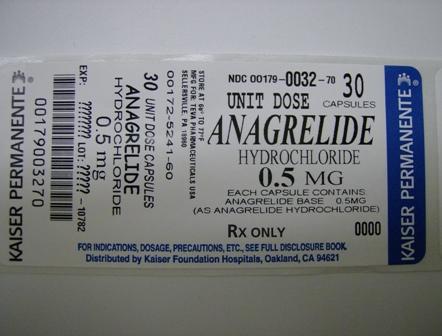 Anagrelide Hydrochloride 0.5 Mg Breastfeeding
