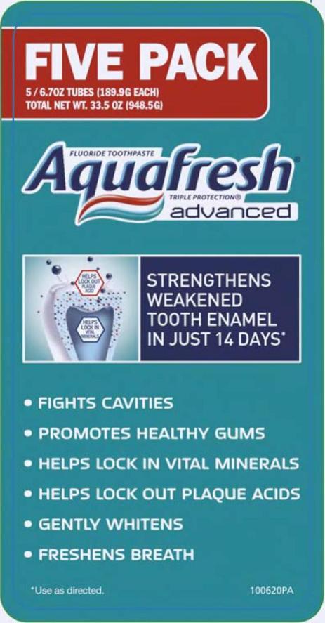 Aquafresh Advanced 2x Enamel | Sodium Fluoride Paste while Breastfeeding
