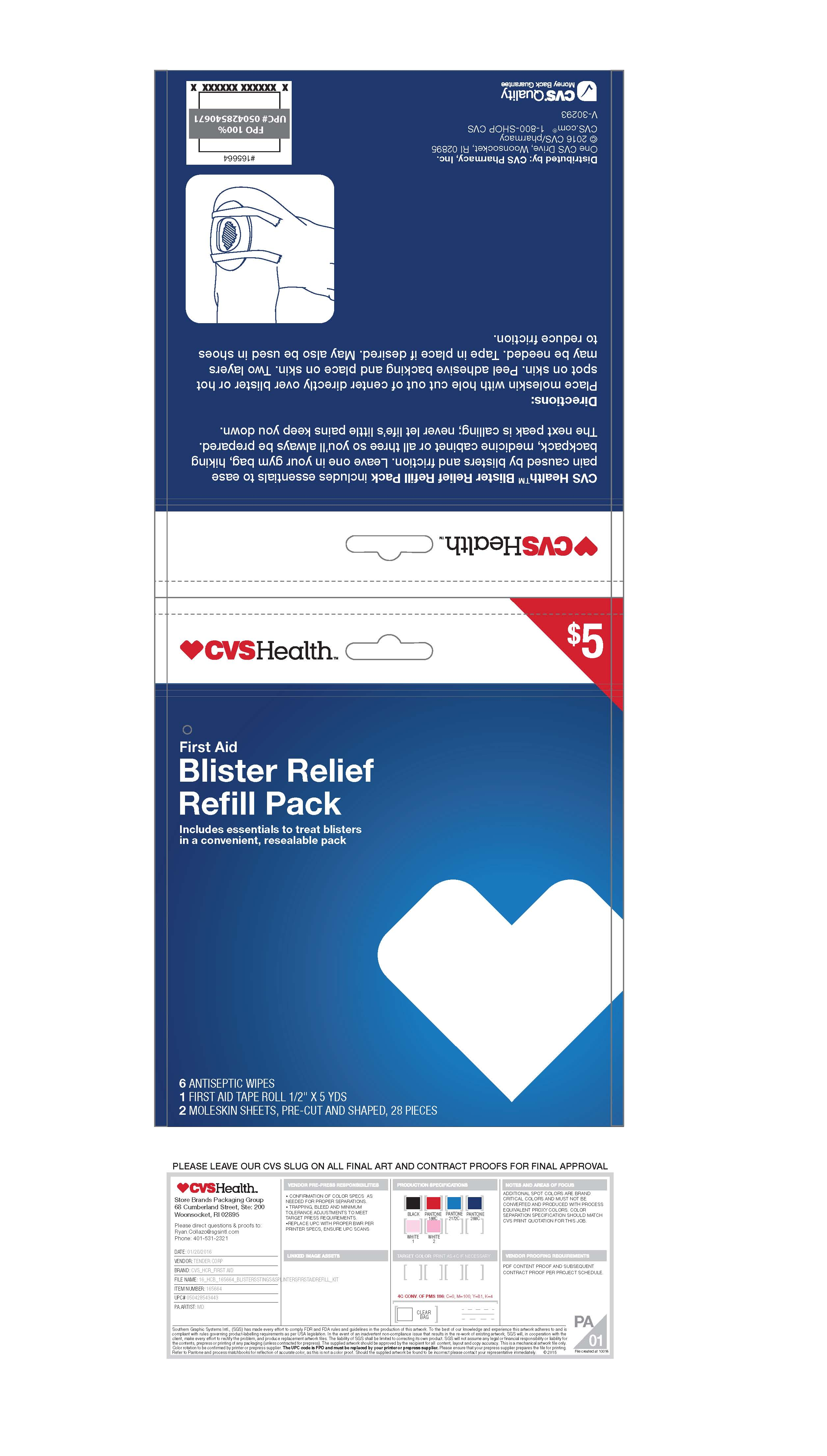 Cvs Blister Relief Refill Pack | Benzalkonium Chloride Kit while Breastfeeding