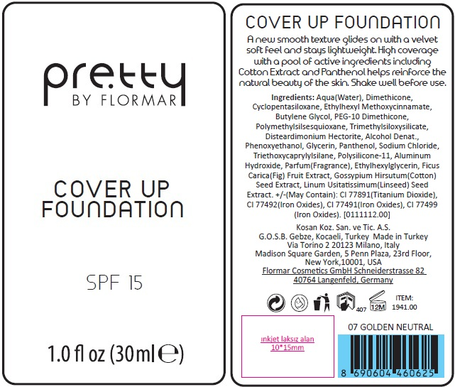 Pretty By Flormar Cover Up Foundation 007 Neutral   Octinoxate Cream Breastfeeding