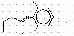 CLONIDINE 0.1MG STRUCTURE IMAGE