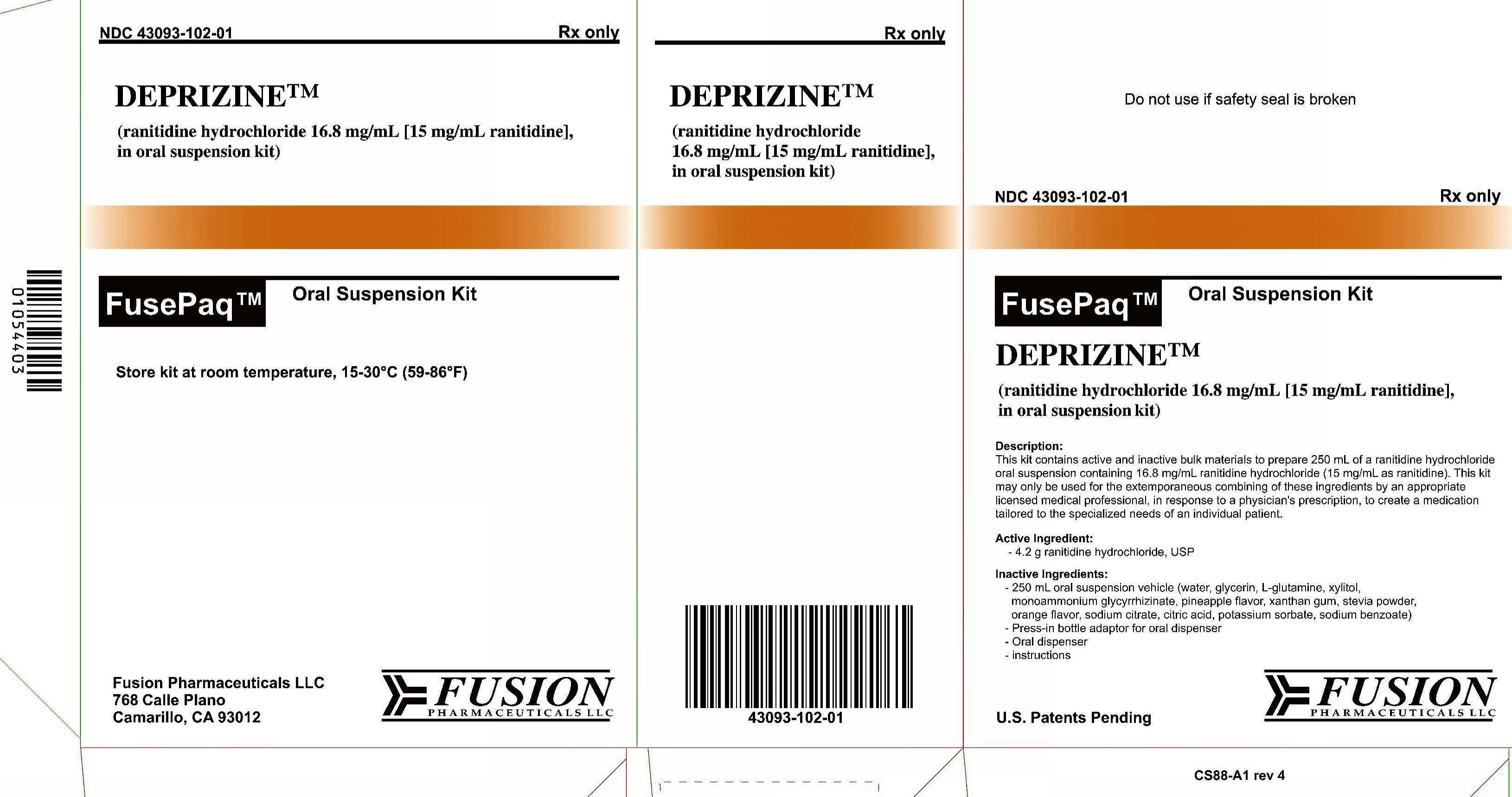 Deprizine | Ranitidine Hydrochloride Kit and breastfeeding