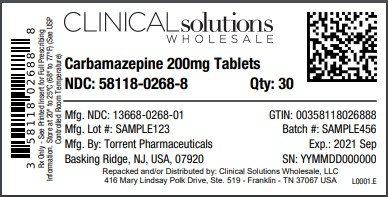 Carbamazepine 200mg tablets 30 ct blister card