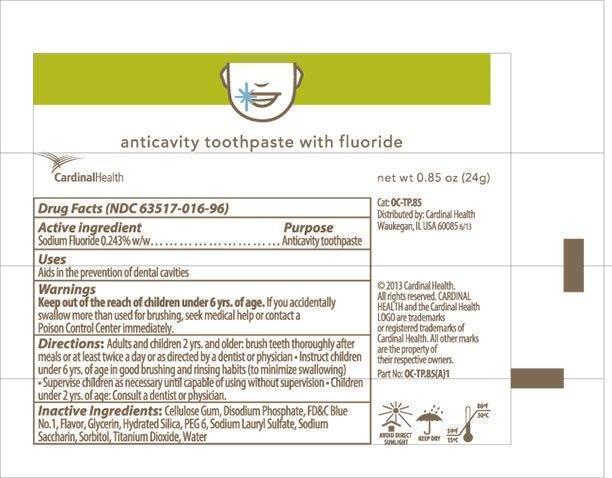 Cardinal Health Fluoride Anticavity | Fluoride Anticavity Toothpaste Paste, Dentifrice Breastfeeding