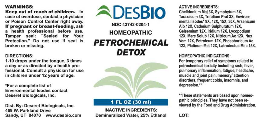 Petrochemical Detox