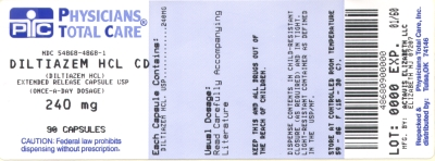 image of Diltiazem Hcl CD 240 mg package label