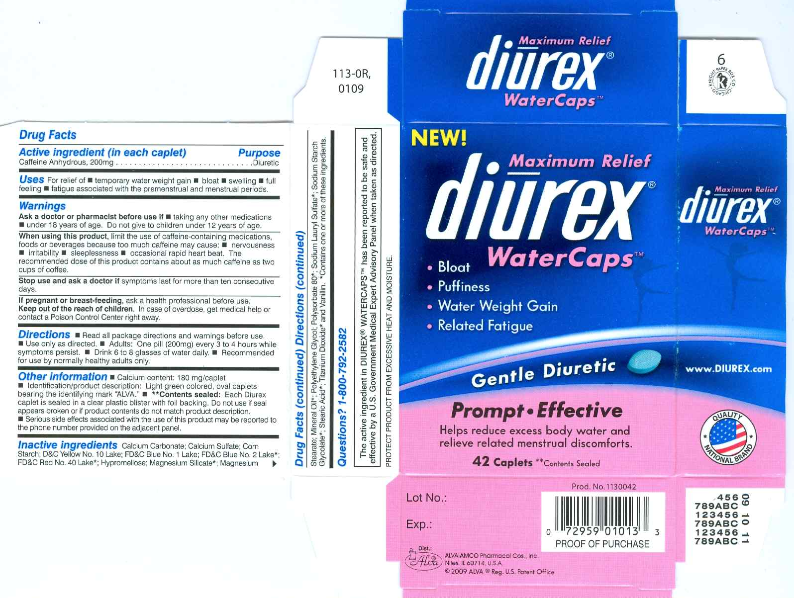 Diurex WaterCaps PDP