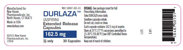 '.Durlaza 162.5Mg Cap 30 By New Haven Phar.'