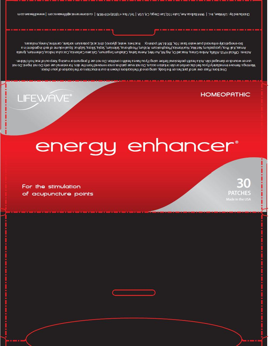 Energy Enhancer Label
