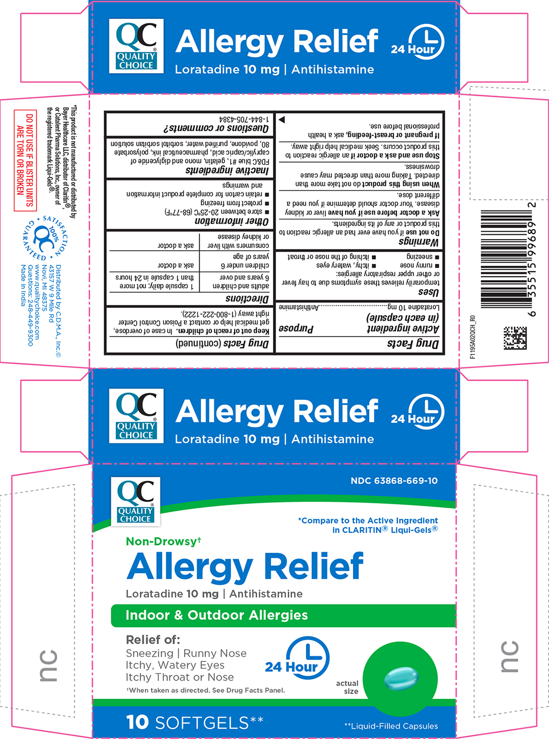 Allergy Relief 10 In 1 Blister Pack while Breastfeeding