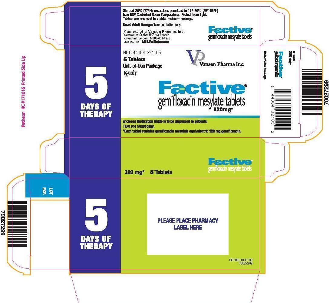 Factive 5 count label