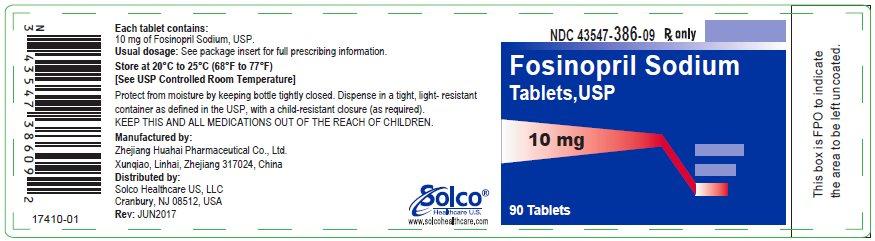 Fosinopril Sodium Tablets  10 mg - 90 tablets