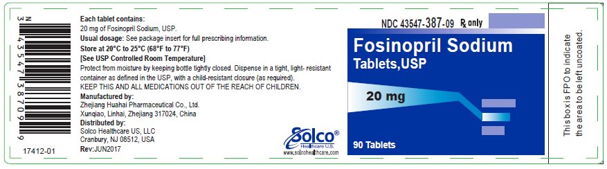 Fosinopril Sodium Tablets  20 mg - 90 tablets