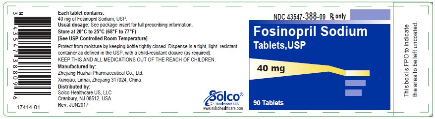 Fosinopril Sodium Tablets  40 mg - 90 tablets