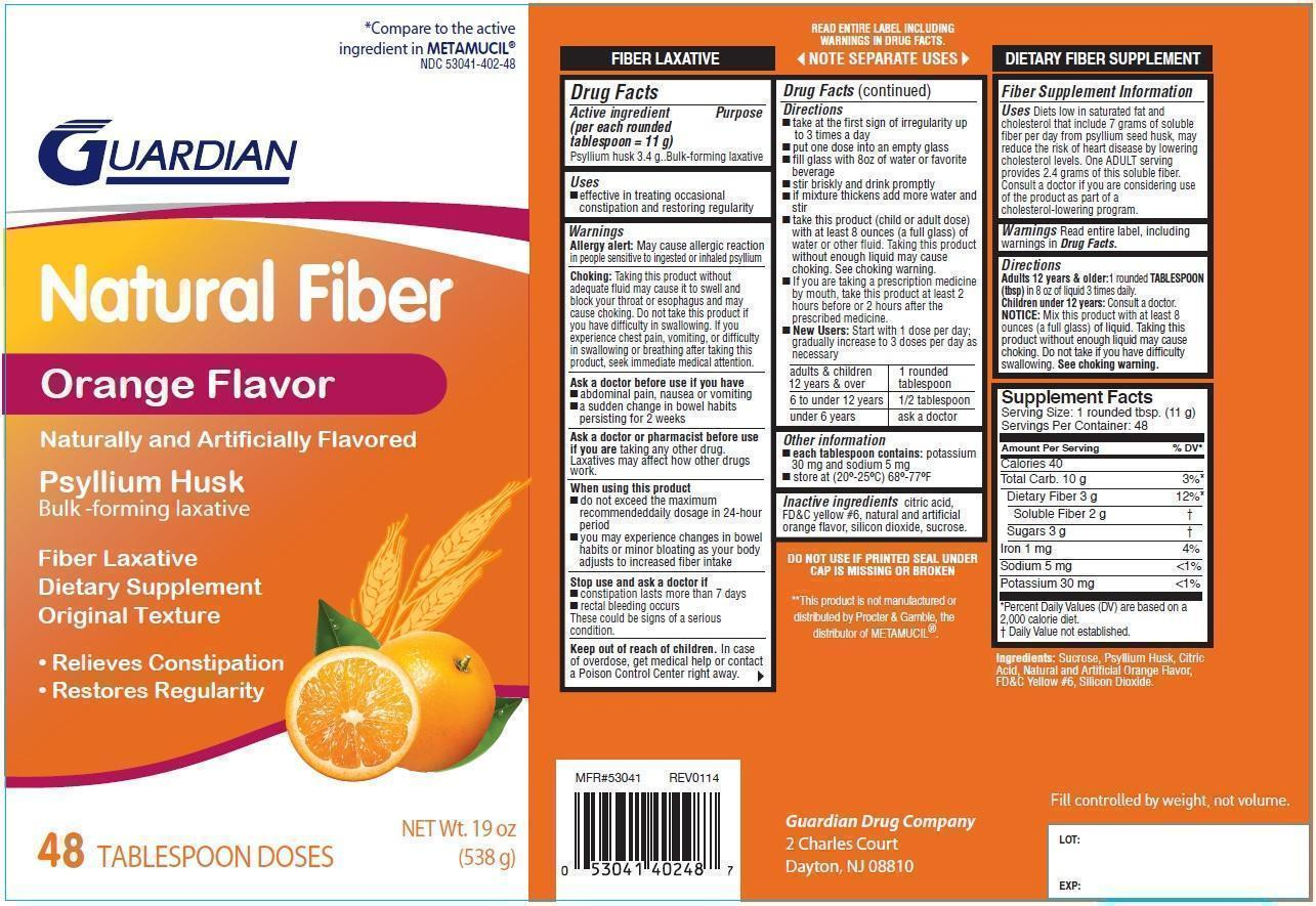 Original Texture, Orange Flavor | Psyllium Husk Powder, For Suspension Breastfeeding