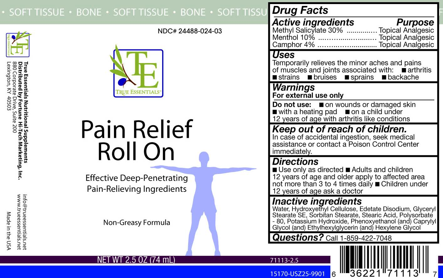 True Essentials Pain Relief Roll On | Camphor, Menthol, And Methyl Salicylate Gel Breastfeeding