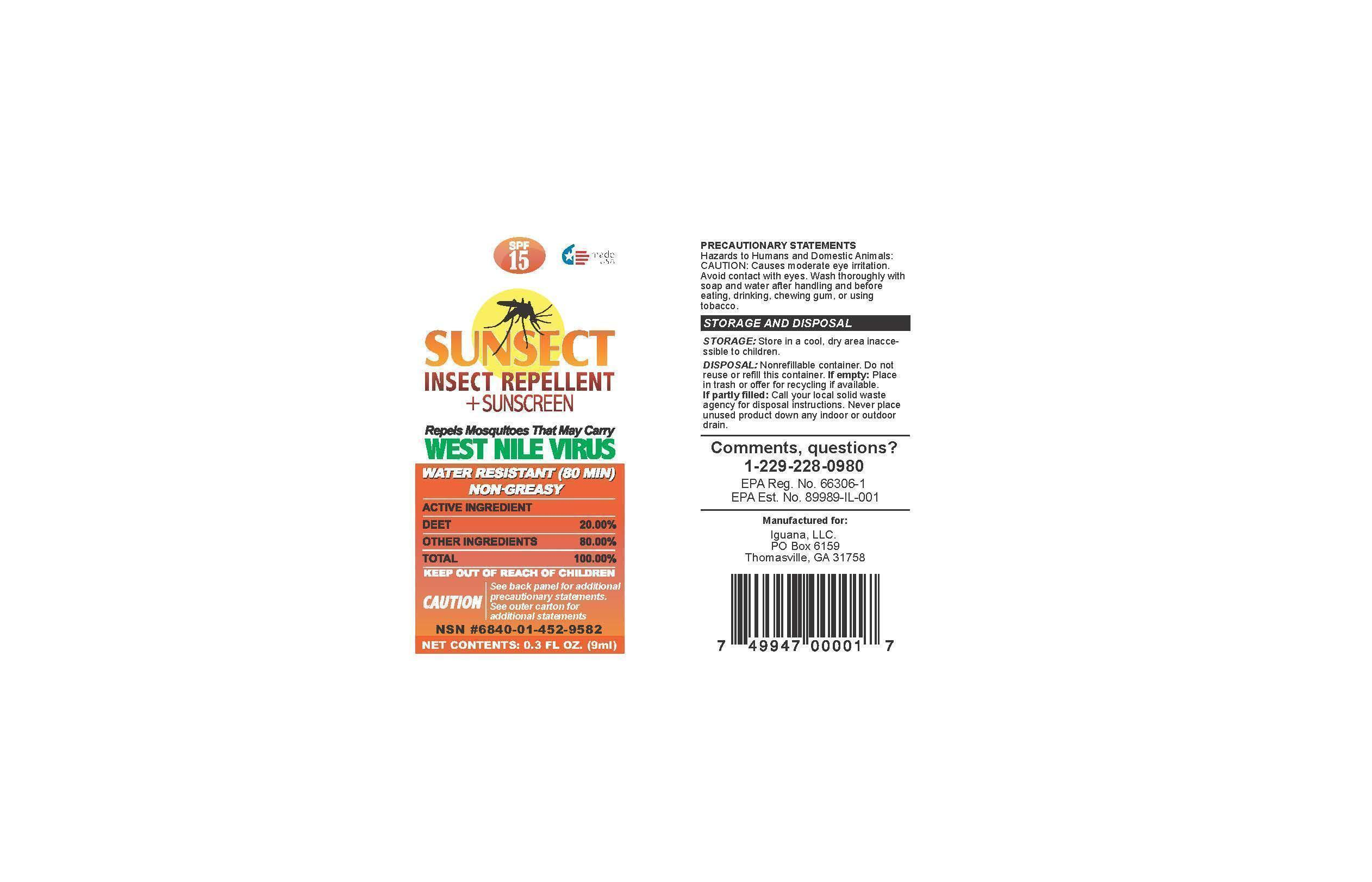 Sunsect Insect Repellent Sunscreen   Octinoxate, Oxybenzone, Octisalate Lotion and breastfeeding