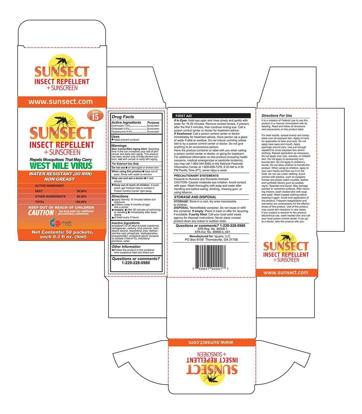 Sunsect Insect Repellent Sunscreen   Octinoxate, Oxybenzone, Octisalate Lotion while Breastfeeding