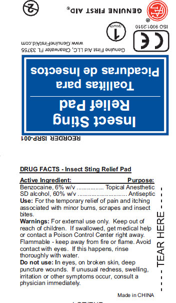 Insect Sting Relief Pad