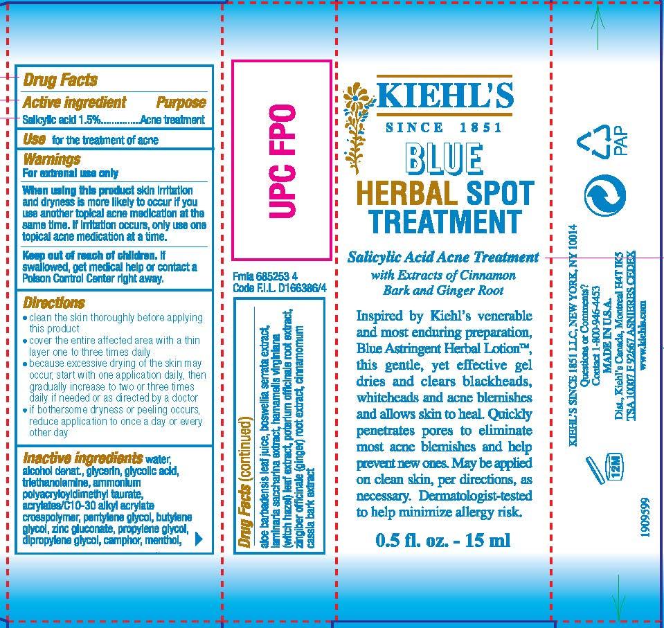 Kiehls Since 1851 Blue Herbal Spot Treatment Acne Treatment | Salicylic Acid Lotion Breastfeeding