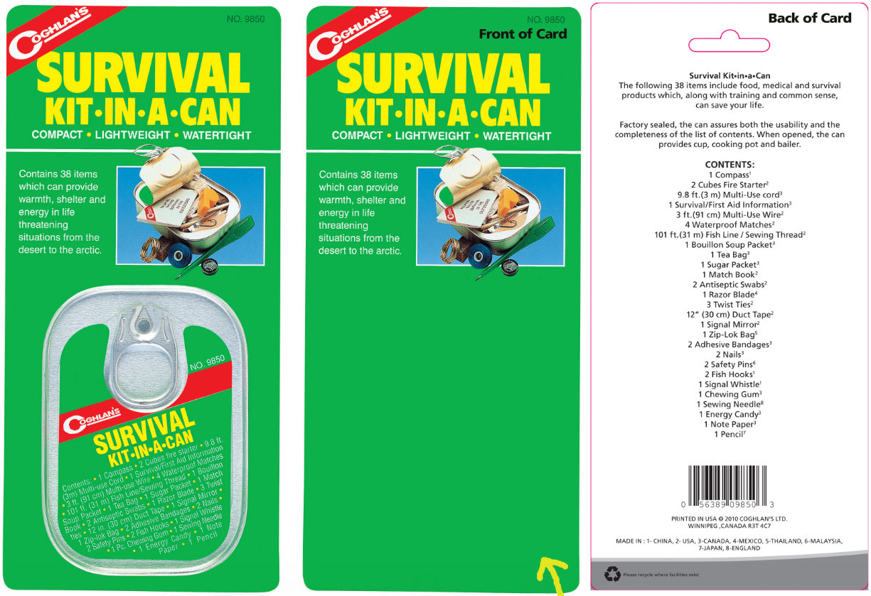 Coghlans Survival In A Can | Isopropyl Alcohol Liquid Breastfeeding
