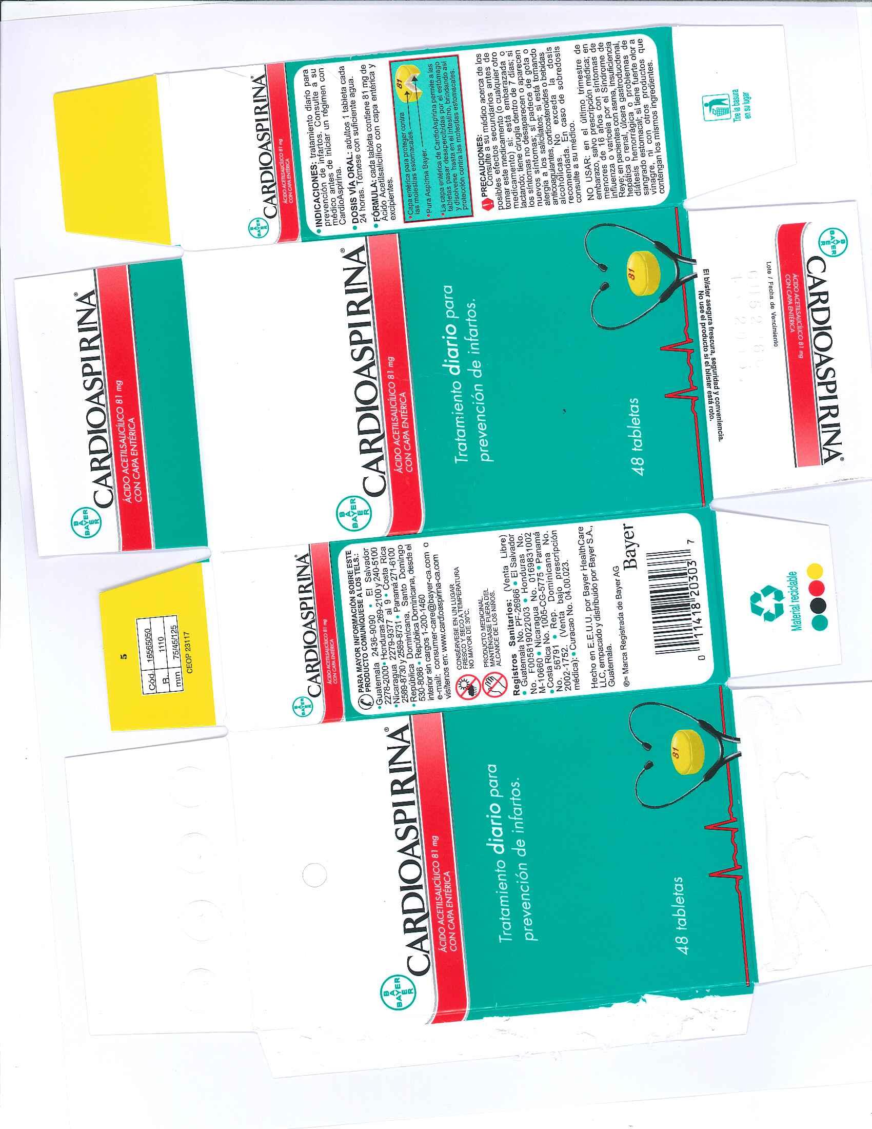 Cardiospirina 81 Mg Tabletas Con Cubierta Enterica while Breastfeeding