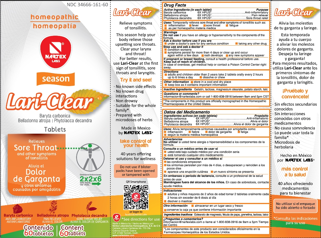 Lari-clear | Baryta Carbonica, Belladonna Atropa, Phytolacca Decandra Tablet Breastfeeding