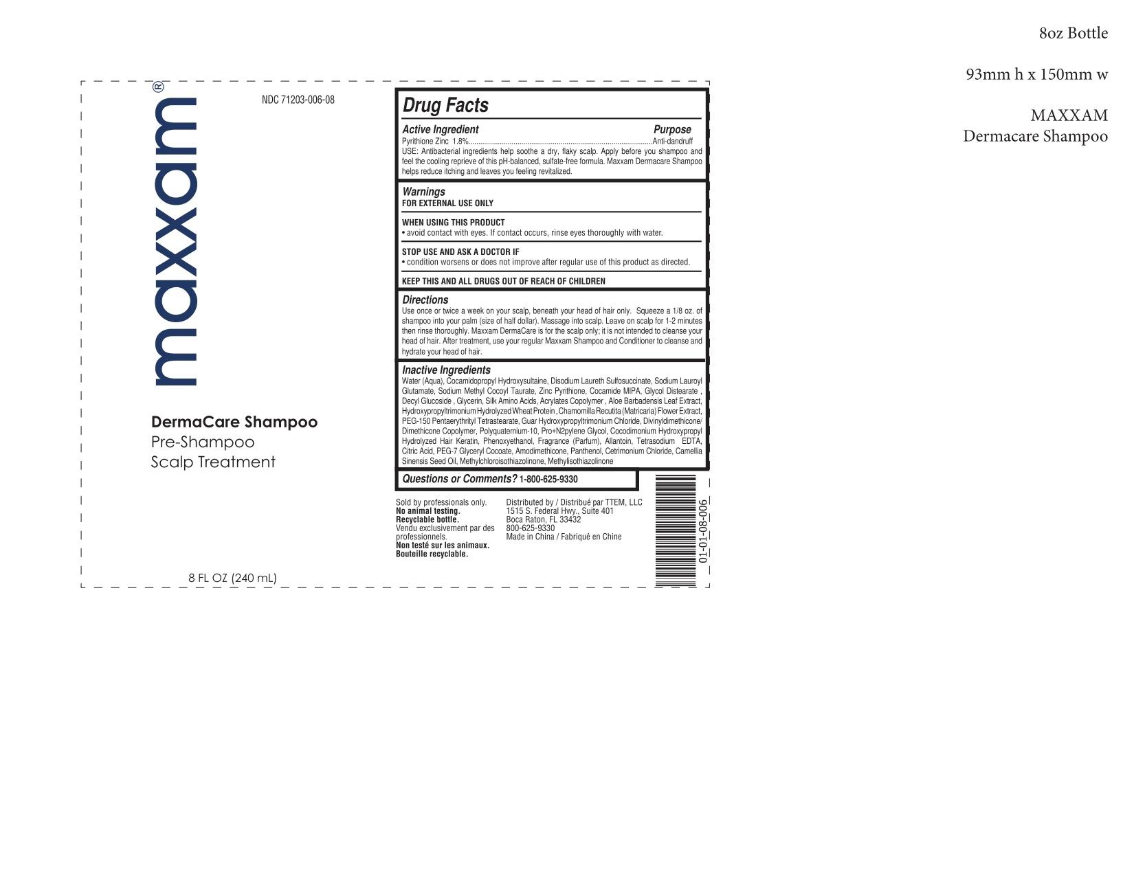 Maxxam Dermacare Pre-shampoo Scalp Treatment | Pyrithione Zinc 1.8 G In 100 Ml Breastfeeding